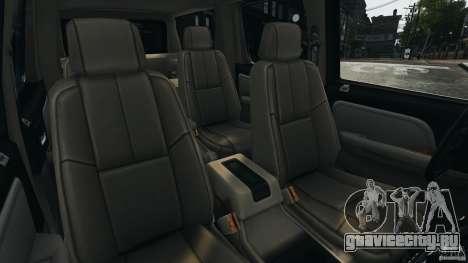Chevrolet Suburban GMT900 2008 v1.0 для GTA 4 вид изнутри