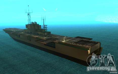 New Aircraft carrier для GTA San Andreas вид сзади слева