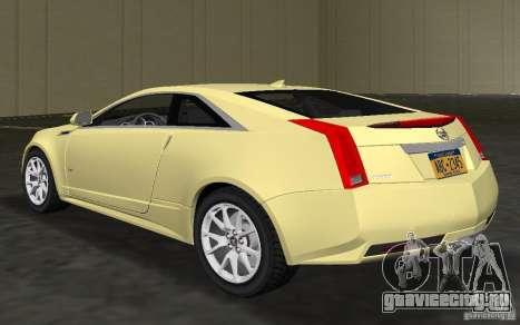 Cadillac CTS-V Coupe для GTA Vice City вид сзади слева