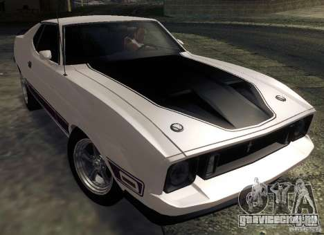 Ford Mustang Mach1 1973 для GTA San Andreas вид сзади
