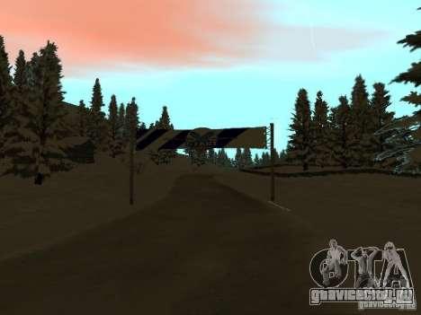 Зимняя трасса для GTA San Andreas второй скриншот