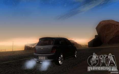 Chevrolet Agile 2012 для GTA San Andreas вид сзади слева