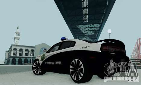 Dodge Charger 2012 Police для GTA San Andreas вид сзади слева