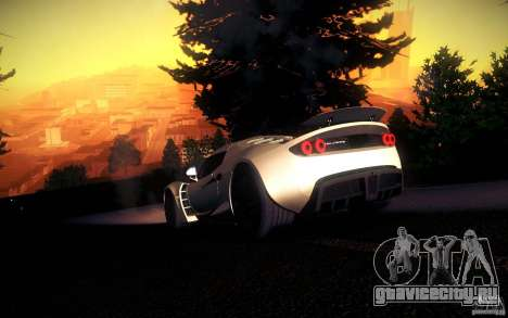 Hennessey Venom GT 2010 V1.0 для GTA San Andreas вид сверху