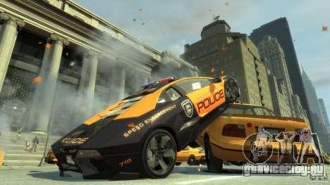 Lamborghini Reventon Police Hot Pursuit для GTA 4 вид сзади слева