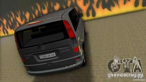 Mercedes-Benz Vito 2007 для GTA Vice City вид сзади слева