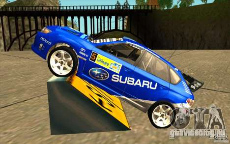 Новый винил к Subaru Impreza WRX STi для GTA San Andreas вид слева