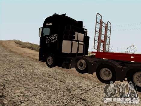 MAN TGX 8x4 для GTA San Andreas вид сзади