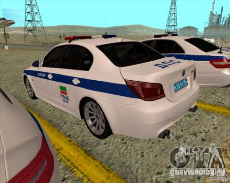 BMW M5 E60 ДПС для GTA San Andreas вид сзади слева