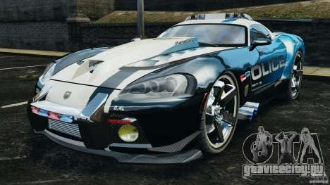 Dodge Viper SRT-10 ACR ELITE POLICE для GTA 4