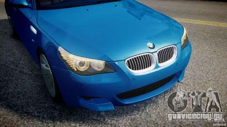 BMW M5 E60 2009 для GTA 4 двигатель