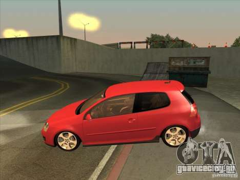 VW Golf Mk5 GTi - Stock: Tunable для GTA San Andreas вид слева