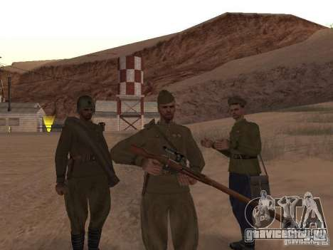 Скин Советского солдата ВОВ для GTA San Andreas