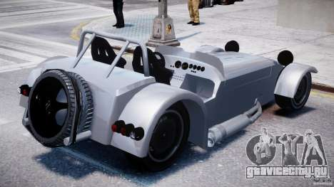 Caterham Super Seven для GTA 4 вид изнутри