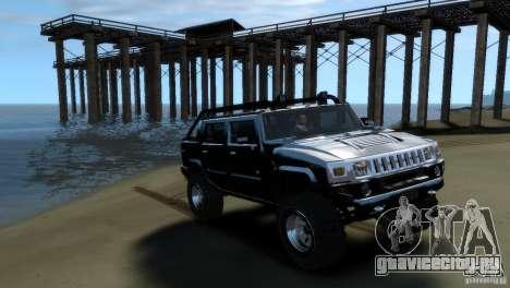 Hummer H2 4x4 OffRoad для GTA 4 вид сзади слева