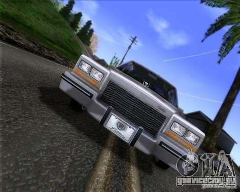 Cadillac Fleetwood Brougham 1985 для GTA San Andreas вид сзади слева
