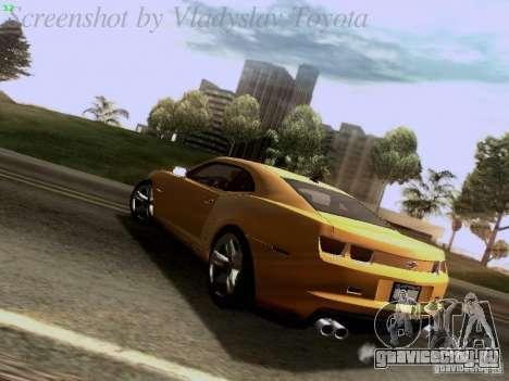 Chevrolet Camaro ZL1 2012 для GTA San Andreas вид сзади слева