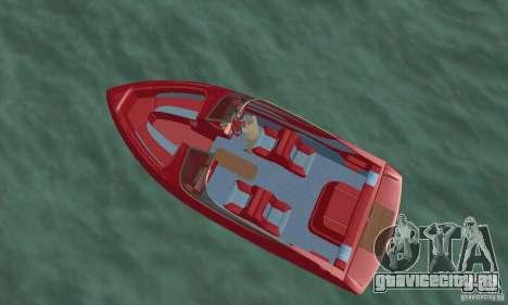 Speedboat для GTA San Andreas вид сзади слева