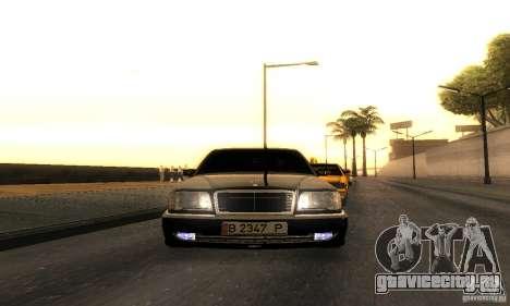 Mercedes-Benz W124 E420 AMG для GTA San Andreas вид сзади