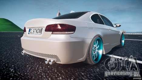 BMW E92 для GTA 4 вид снизу
