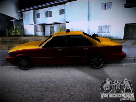 Sentinel Taxi для GTA San Andreas вид сзади