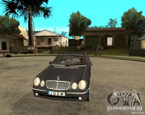 Mercedes–Benz E Class для GTA San Andreas вид сзади