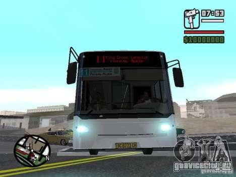 CityLAZ 12 LF для GTA San Andreas вид изнутри