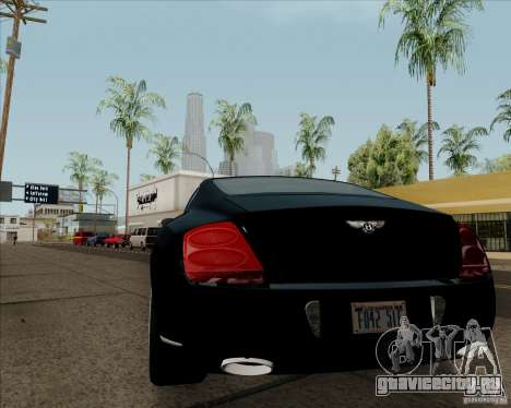 Bentley Continental GT V1.0 для GTA San Andreas вид сзади слева