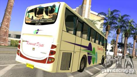 Hino New Travego RK1 для GTA San Andreas вид сзади слева
