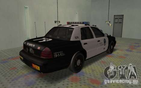 Ford Crown Victoria Police Interceptor LSPD для GTA San Andreas вид сзади слева