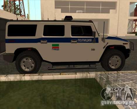 Hummer H2 ДПС для GTA San Andreas вид слева