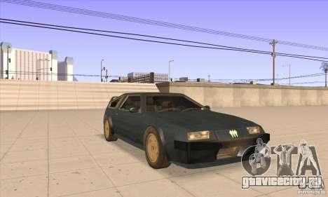 Deluxo HD для GTA San Andreas вид сзади