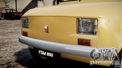 Fiat 126p 1976 для GTA 4 салон
