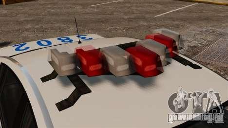 Полицейский Pinnacle ELS для GTA 4 вид сзади