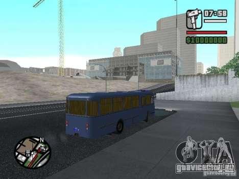 ЛиАЗ 677Ш для GTA San Andreas вид изнутри