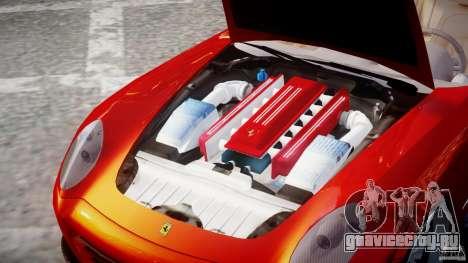 Ferrari 612 Scaglietti custom для GTA 4 вид изнутри