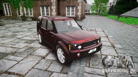 Land Rover Discovery 4 2011 для GTA 4 вид сзади