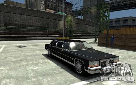 Cadillac Fleetwood Limousine 1985 [Final] для GTA 4 вид сзади