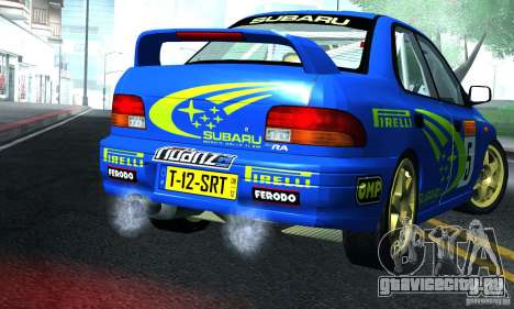 Subaru Impreza 1995 World Rally ChampionShip для GTA San Andreas вид справа