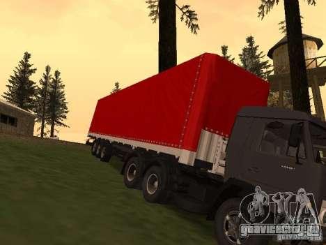 НефАЗ 93344 Красный для GTA San Andreas вид сзади