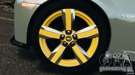 Chevrolet Camaro ZL1 2012 v1.2 для GTA 4 вид снизу