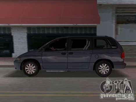 Dodge Grand Caravan для GTA Vice City вид слева