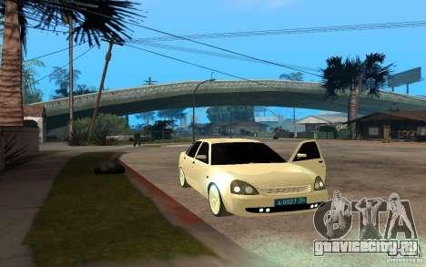 Lada Priora Light Tuning для GTA San Andreas вид сзади слева