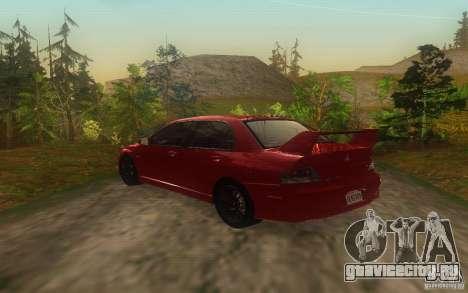 Mitsubishi Lancer Evolution IX 2006 MR v2 для GTA San Andreas