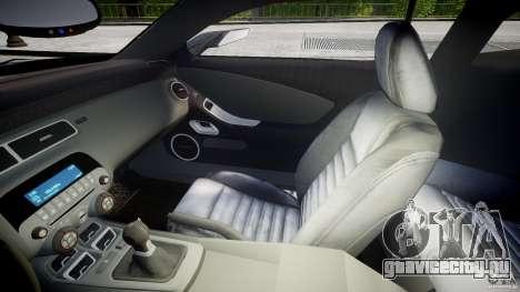 Chevrolet Camaro SS 2009 v2.0 для GTA 4 вид изнутри
