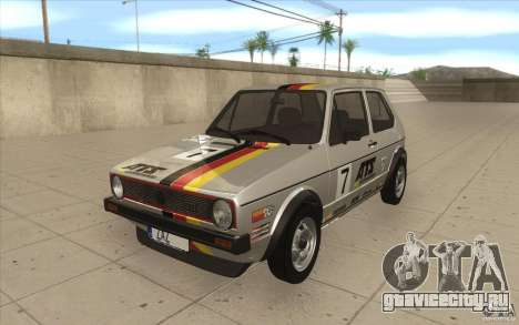 Volkswagen Golf Mk1 - Stock для GTA San Andreas двигатель