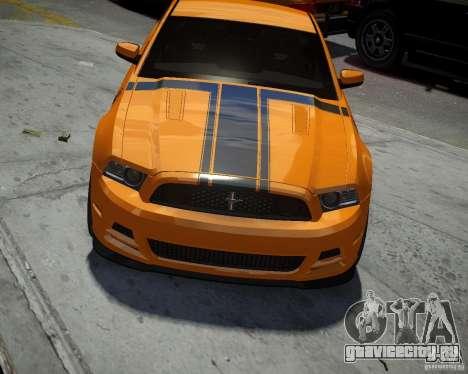 Ford Mustang Boss для GTA 4 вид изнутри