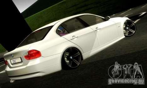 BMW 330 E90 для GTA San Andreas вид слева