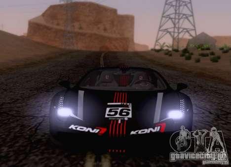 Ferrari F458 для GTA San Andreas вид изнутри