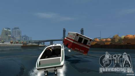 Ambulance boat для GTA 4 вид изнутри